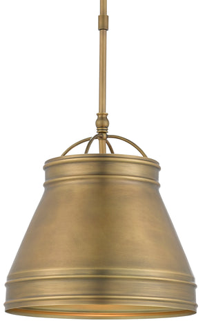 Lumley Brass Pendant by Currey & Company