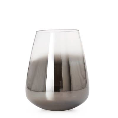 Smoke Mirror Cone Vase / Candle Holder in Short design by Torre & Tagus