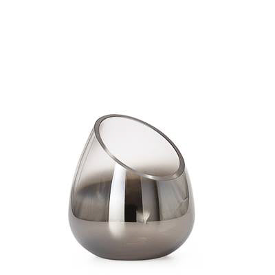 Smoke Mirror Angled Cone Vase / Candle Holder in Short design by Torre & Tagus