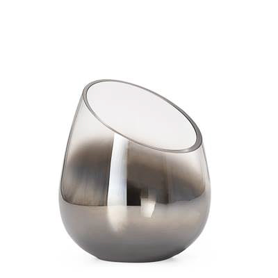 Smoke Mirror Angled Cone Vase / Candle Holder in Tall