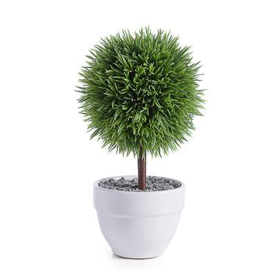 "Jardin 10"" Potted Faux Topiary in Grass Ball design by Torre & Tagus"