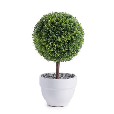 "Jardin 10"" Potted Faux Topiary in Boxwood Ball design by Torre & Tagus"