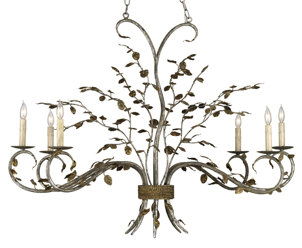 Raintree Oval Chandelier design by Currey & Company