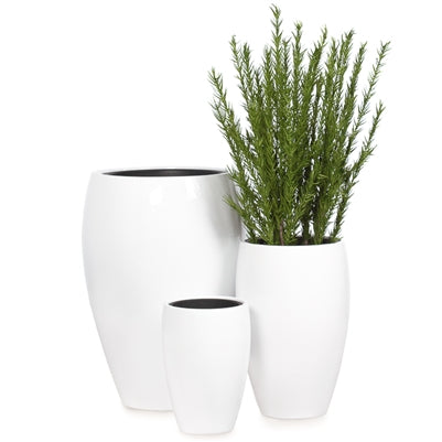 Aria Polystone Tapered Planters with Liners in Set of Three design by Torre & Tagus