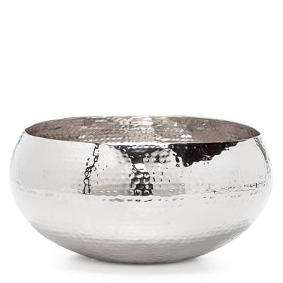 "Aladdin Hammered Aluminum 13"" Diameter Bowl design by Torre & Tagus"