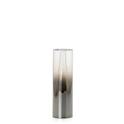 "Smoke Mirror Glass Droplet 10""h Cylinder Vase design by Torre & Tagus"