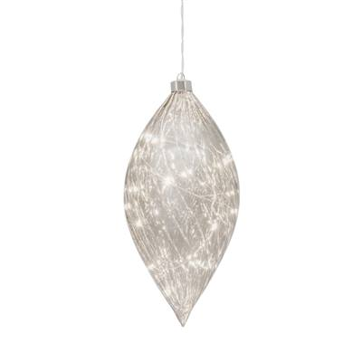 "Droplet Smoke Mirror Glass 5"" Diameter LED Hanging Decor design by Torre & Tagus"