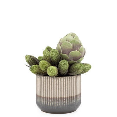 "Palma Layered Glaze Ceramic 5.5"" Drop Pot in Creme design by Torre & Tagus"