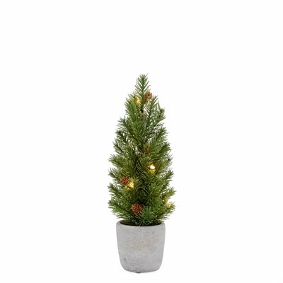 "Nordic 12"" LED Mini Potted Pine Tree"