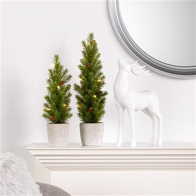 "Nordic 17"" LED Mini Potted Pine Tree"