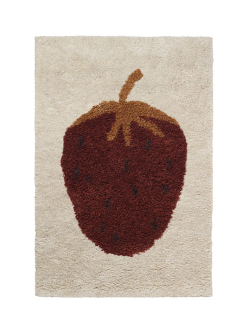 Fruiticana Tufted Strawberry Rug by Ferm Living