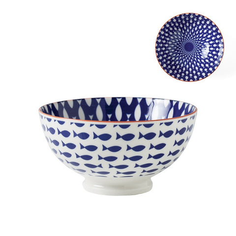 Medium Kiri Porcelain Bowl in Fish design by Torre & Tagus