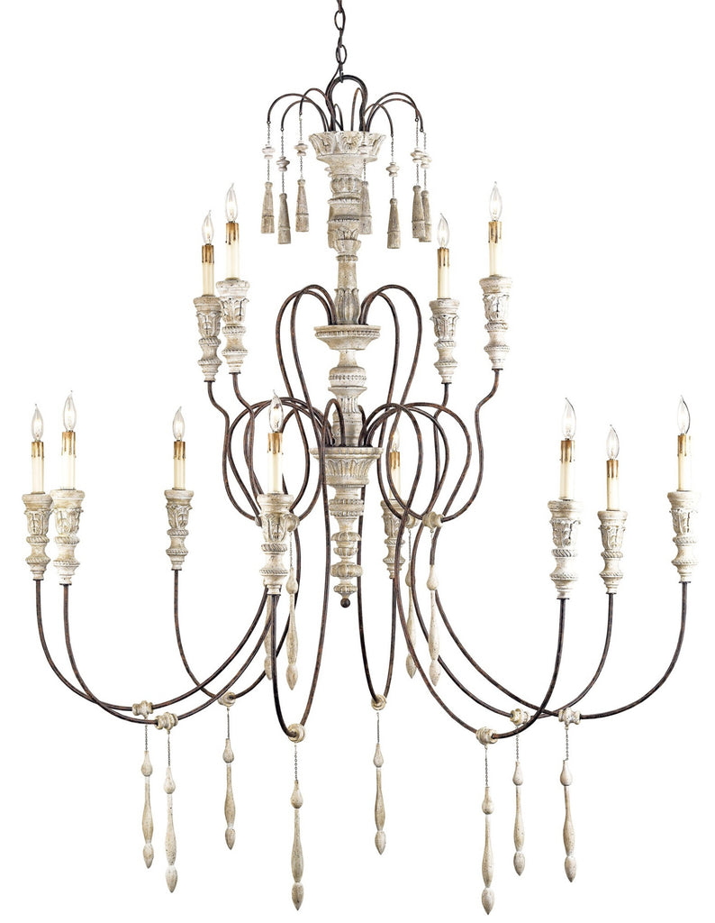 Large Hannah Chandelier design by Currey & Company