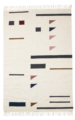 Kelim Rug in Color Triangles design by Ferm Living