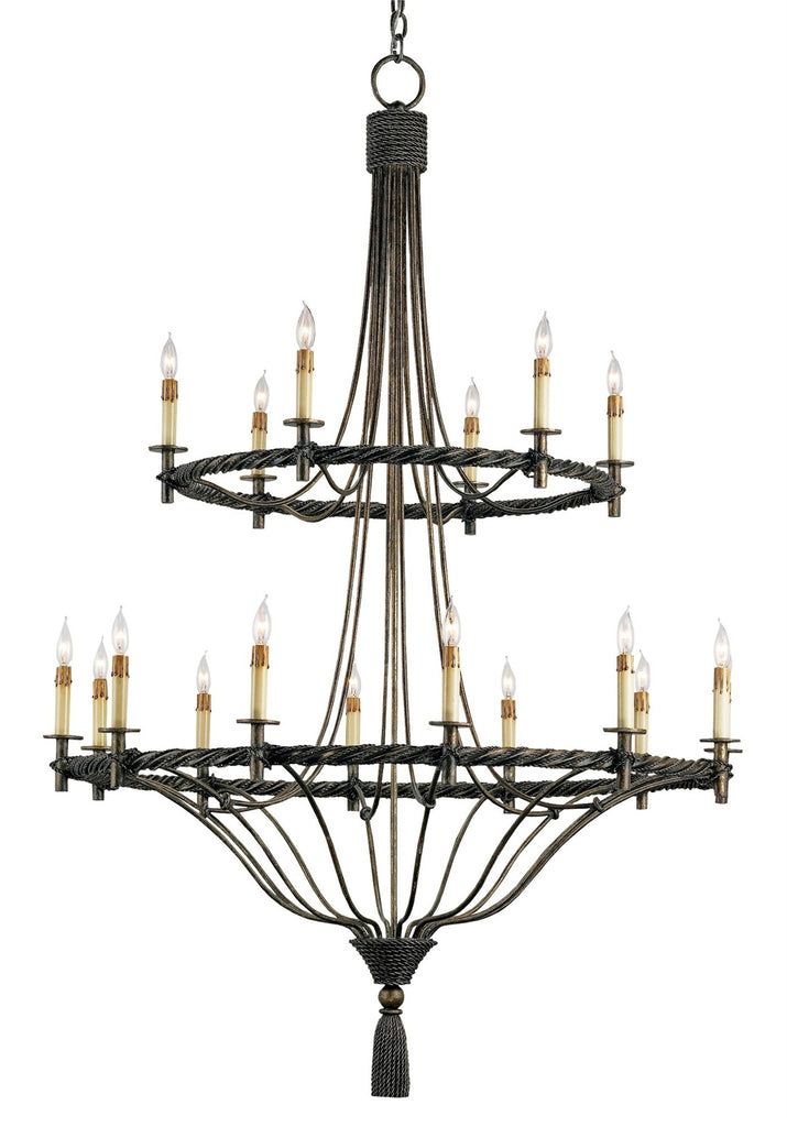Priorwood Chandelier design by Currey & Company