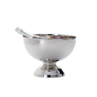 Landon Stainless Steel Punch Bowl Wine Chiller in Small design by Torre & Tagus