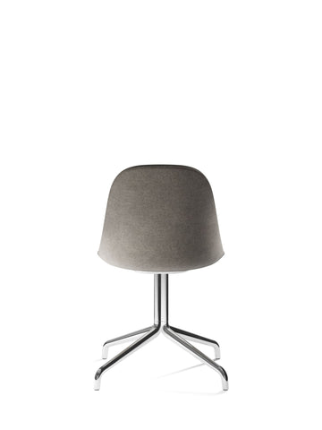 Harbour Upholstered Swivel Base Side Chair w/ Polished Aluminum Legs in Various Colors