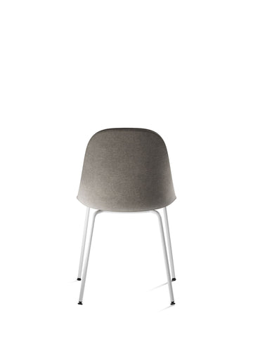 Harbour Upholstered Dining Height Side Chair w/ White Steel Legs in Various Colors
