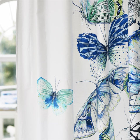 Papillons Cobalt Shower Curtain Design By Designers Guild