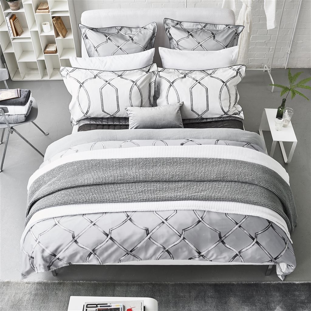 Rabeschi Slate Bed Linen by Designers Guild