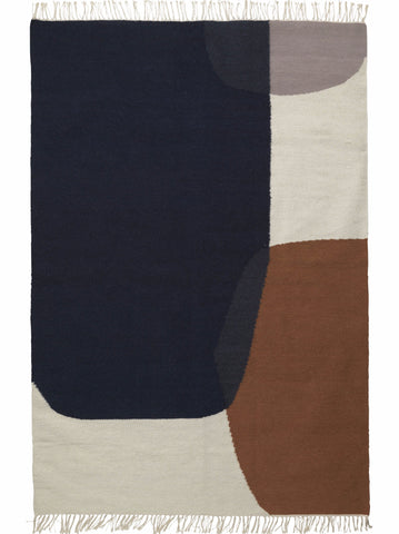 Kelim Rug in Merge design by Ferm Living