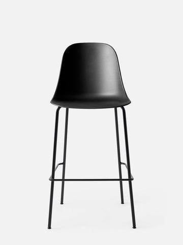 Harbour Hard Shell Bar Height Side Chair w/ Steel Black Legs in Various Colors by Menu
