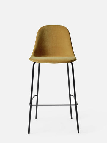 Harbour Upholstered Bar Height Side Chair w/ Steel Black Legs in Various Colors