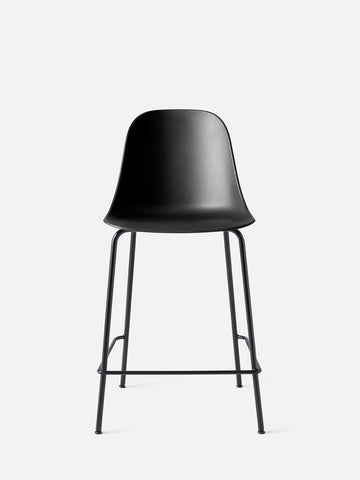 Harbour Hard Shell Counter Height Side Chair w/ Steel Black Legs in Various Colors