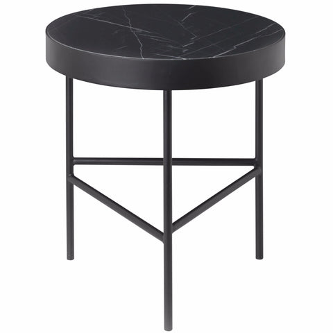 Medium Marble Table in Black Marquina design by Ferm Living
