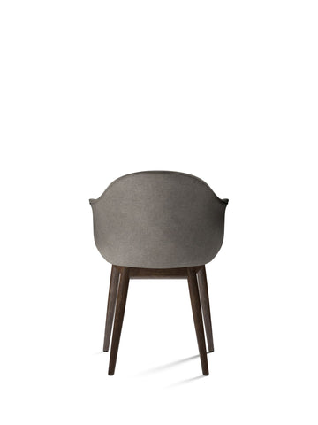 Harbour Chair, Wood Legs + Upholstered Shell in Assorted Colors