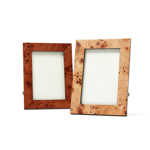 "Burled Wood 4"" x 6"" Photo Frame in Gift Box in Various Colors"