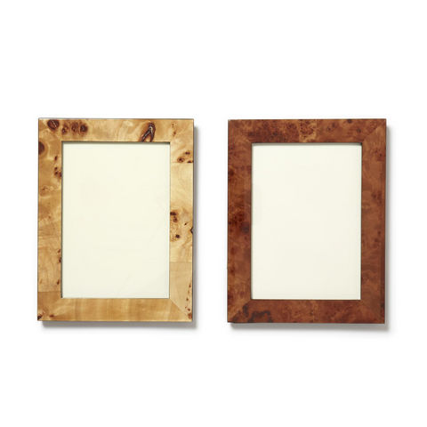 "Burled Wood 5"" x 7"" Photo Frame in Gift Box in Various Colors"
