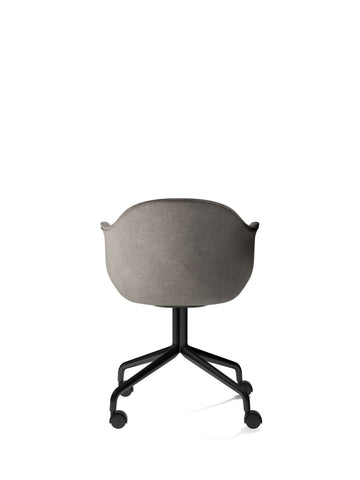 Harbour Chair w/ Swivel Base & Casters in Black Steel