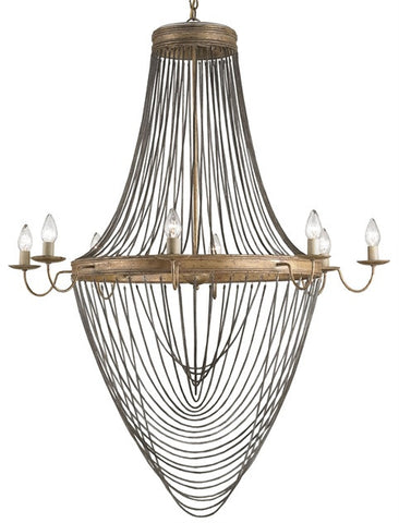Lucien Chandelier, Large design by Currey & Company