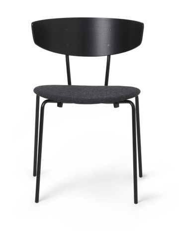 Herman Chair Upholstered in Black/Dark Grey by Ferm Living