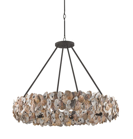 Oyster Circle Chandelier design by Currey & Company