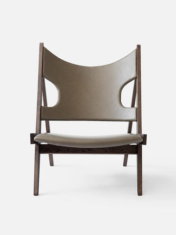 Knitting Lounge Chair in Smoked Oak/Sand Leather Dakar