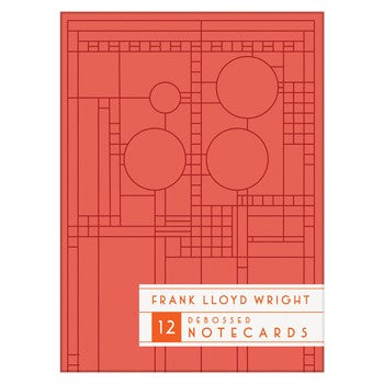 Frank Lloyd Wright Bright Geometric Debossed Notecards by Galison