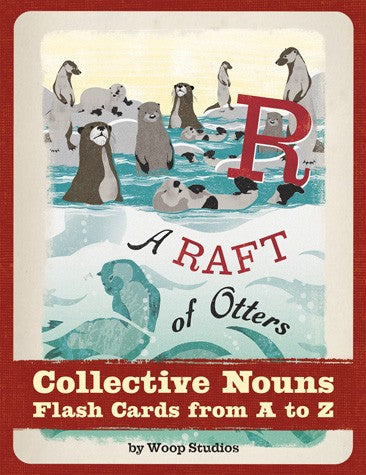 A Raft of Otters - Collective Nouns Flash Cards from A to Z By Woop Studios