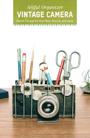 Artful Organizer: Vintage Camera Stylish Storage for Your Pens, Pencils, and More!