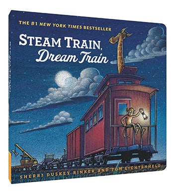 Steam Train, Dream Train - Board Book by Sherri Duskey Rinker