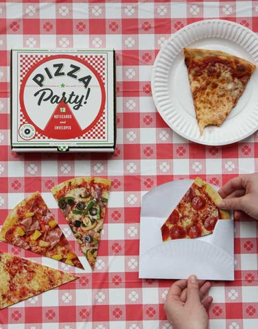 Pizza Party! 12 Notecards & Envelopes