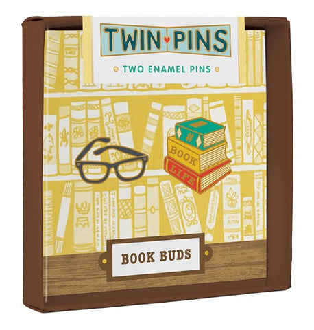 Book Buds Twin Pins Two Enamel Pins By Chronicle Books