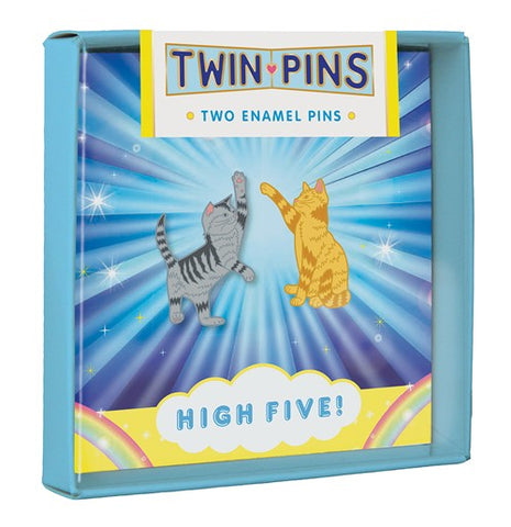 High Five Twin Pins Two Enamel Pins By Chronicle Books
