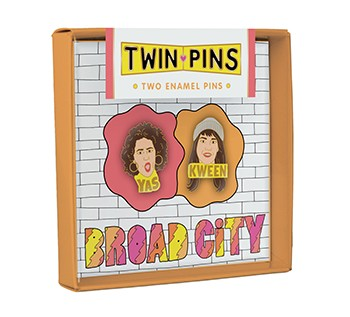 Broad City Twin Pins Two Enamel Pins By Chronicle Books