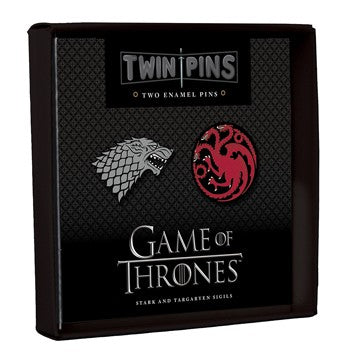 Game of Thrones Twin Pins: Stark and Targaryen Sigils By Chronicle Books