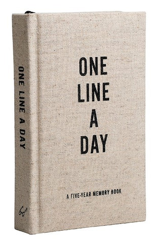 Canvas One Line a Day A Five-Year Memory Book By Chronicle Books