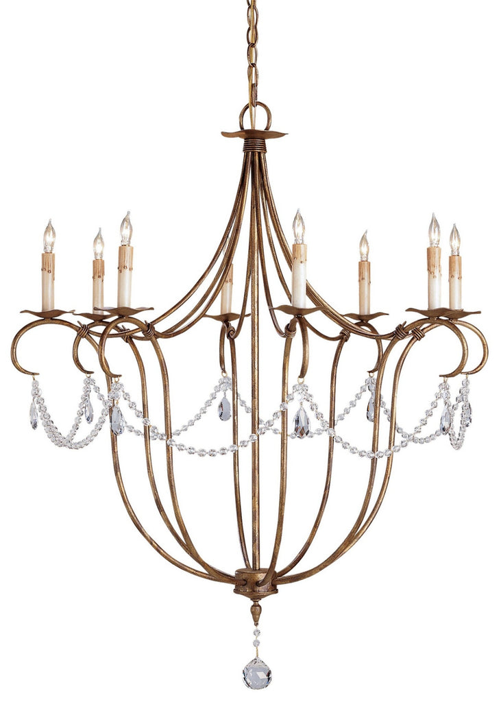 Large Crystal Light Chandelier design by Currey & Company
