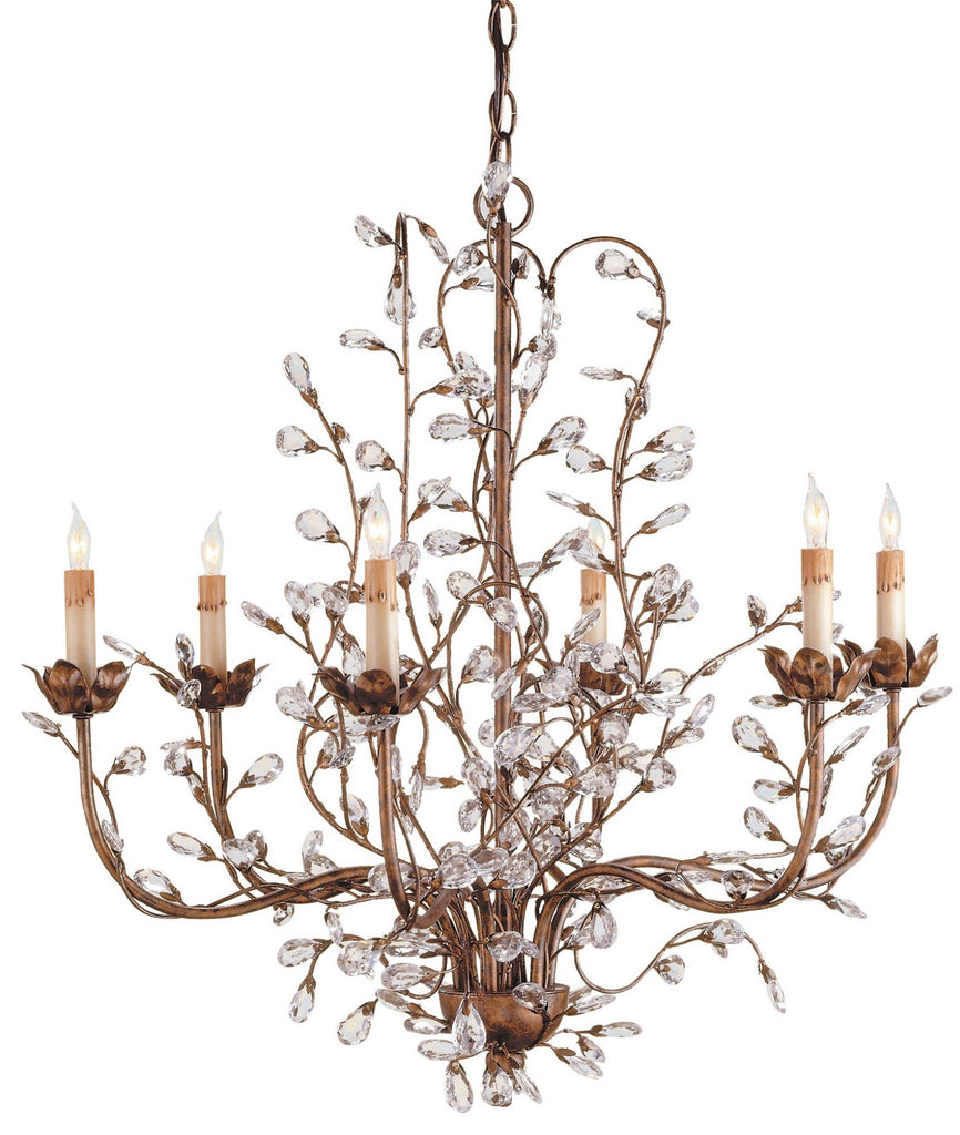 Medium Crystal Bud Chandelier design by Currey & Company