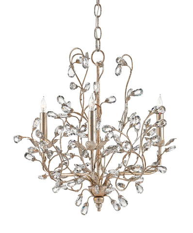 Small Crystal Bud Chandelier in Silver Granello